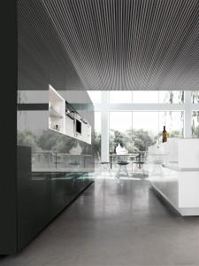 cuisine moderne noir et blanc New Cubica
